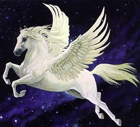 Flying Horse Pegasus Into the Night Sky.jpg