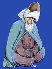 Persian Poet Rumi Meditating